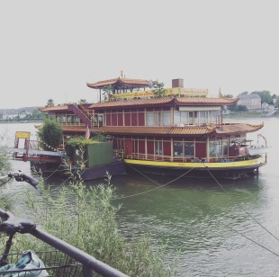 Colleague took us to this awesome Chinese restaurant. Watch it, the boat does wobble a bit :)