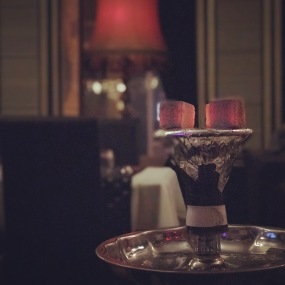 Always time for shisha at Shyam Restaurant