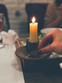 Edible candle
