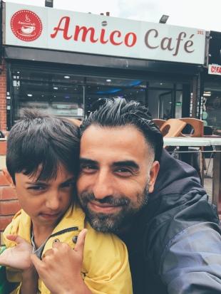 Amico Cafe... fine choice son!