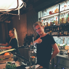 The most relaxed easy going bartender I've met