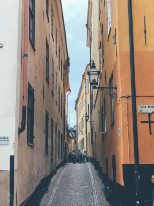 Take the narrow streets avoiding the crowds